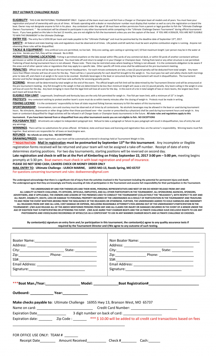 ULTIMATE CHALLENGE -Rules and Registration
