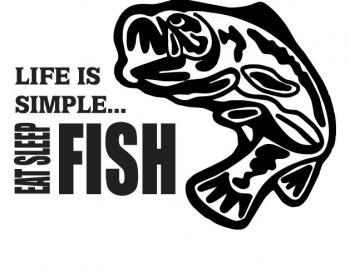 Life is Simple, EAT, SLEEP, FISH.